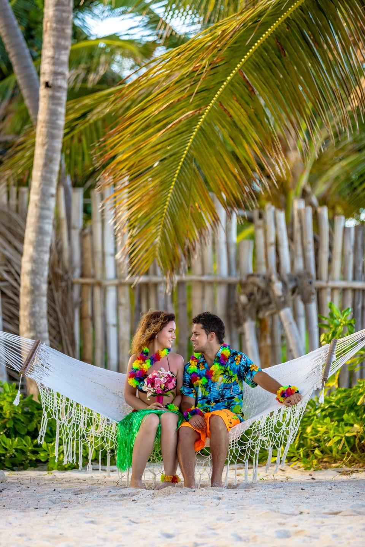 свадьба в гавайском стиле фото увидеть улицы